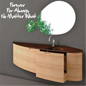 Forever for always no matter what Wall Quote Mural Decal