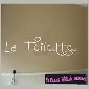 La toilette Wall Quote Mural Decal