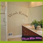 Wash Room Wall Quote Mural Decal SWD