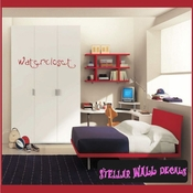 Watercloset Wall Quote Mural Decal SWD