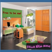 Free to be me! Wall Quote Mural Decal SWD
