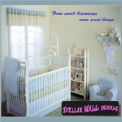 From small beginnings come great things. Wall Quote Mural Decal SWD