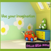 Use your imagination Wall Quote Mural Decal SWD
