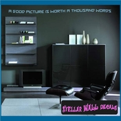 A good picture is worth a thousand words Wall Quote Mural Decal SWD