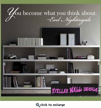 Life Inspirational Vinyl Wall Decal Sticker Mural Quotes Words L045YoubecomeIII7 SWD