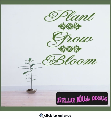 Plant Grow Bloom Spring Holiday Vinyl Wall Decal Mural Quotes Words HD090 SWD