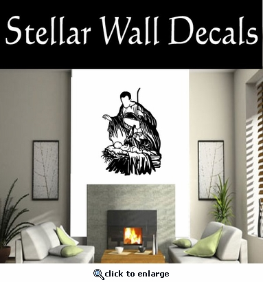 Religion Manger NS001 Vinyl Decal Wall Art Sticker Mural