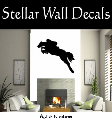 Horse Jumping NS001 Vinyl Decal Wall Art Sticker Mural