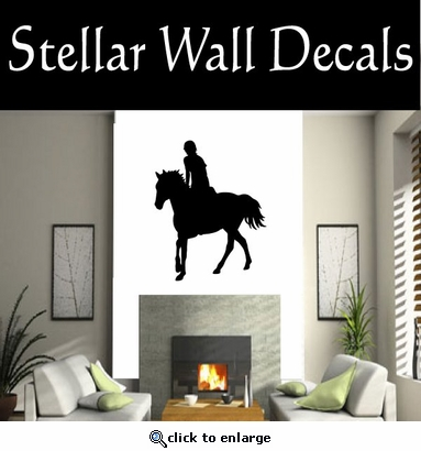 Horse Jumping NS004 Vinyl Decal Wall Art Sticker Mural