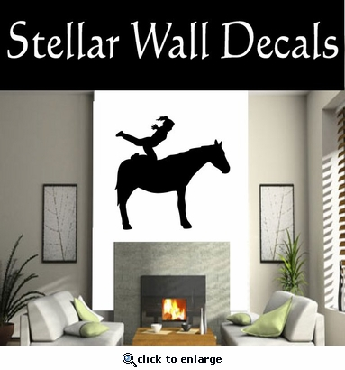 Equastrianvaulting NS001 Vinyl Decal Wall Art Sticker Mural