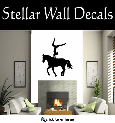 Equastrianvaulting NS002 Vinyl Decal Wall Art Sticker Mural SWD