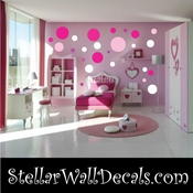 216 Dots Circles Vinyl Wall Decal Stickers Kit SWD