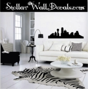 Dallas Skyline Wall Vinyl Decal Sticker SWD