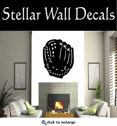 Baseball Glove NS001 Vinyl Decal Wall Art Sticker Mural