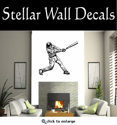 Baseball Throwing Hitting Pitching Batting Catching Sliding Swinging CDS001 Sport Sports Wall or Car Vinyl Decal Sticker Mural SWD