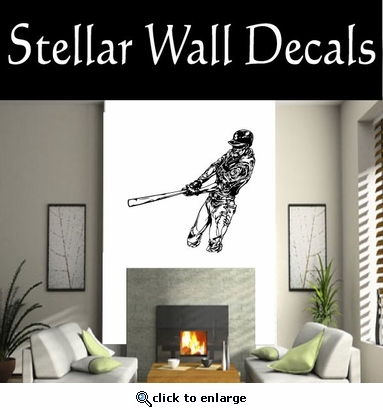 Baseball Throwing Hitting Pitching Batting Catching Sliding Swinging CDS106 Sport Sports Wall or Car Vinyl Decal Sticker Mural SWD