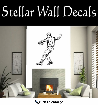 Baseball Throwing Hitting Pitching Batting Catching Sliding Swinging CDS116 Sport Sports Wall or Car Vinyl Decal Sticker Mural