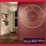 Roman Numerals Clock Faces Face Vinyl Wall Decal Mural Quotes Words CF001 SWD