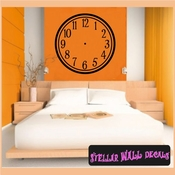 Wall clocks sim[le numbers Clock Faces Face Vinyl Wall Decal Mural Quotes Words CF003 SWD