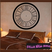 Roman numerals wall clocks borders Clock Faces Face Vinyl Wall Decal Mural Quotes Words CF004 SWD