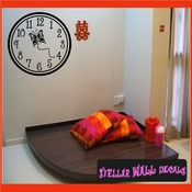 Wall clocks with butterfly butterflies Clock Faces Face Vinyl Wall Decal Mural Quotes Words CF005 SWD