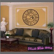 Wall clocks with text enjoy each moment Clock Faces Face Vinyl Wall Decal Mural Quotes Words CF007 SWD