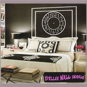 Wall clocks simple number Clock Faces Face Vinyl Wall Decal Mural Quotes Words CF009 SWD