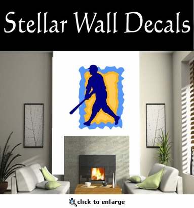Baseball Throwing Hitting Pitching Batting Catching Sliding Swinging CDSColor037 Sport Sports Wall or Car Vinyl Decal Sticker Mural SWD
