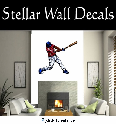 Baseball Throwing Hitting Pitching Batting Catching Sliding Swinging CDSColor054 Sport Sports Wall or Car Vinyl Decal Sticker Mural SWD