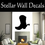 Western Cowboy Boots NS001 Vinyl Decal Wall Art Sticker Mural SWD