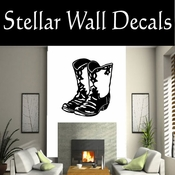 Western Cowboy Boots NS003 Vinyl Decal Wall Art Sticker Mural SWD