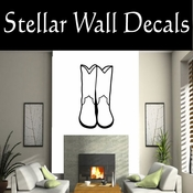 Western Cowboy Boots NS008 Vinyl Decal Wall Art Sticker Mural SWD