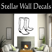 Western Cowboy Boots NS009 Vinyl Decal Wall Art Sticker Mural SWD