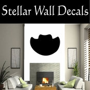 Western Cowboy Hat NS001 Vinyl Decal Wall Art Sticker Mural SWD