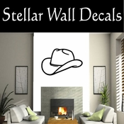 Western Cowboy Hat NS003 Vinyl Decal Wall Art Sticker Mural SWD