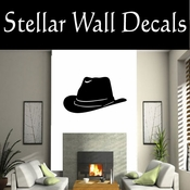 Western Cowboy Hat NS006 Vinyl Decal Wall Art Sticker Mural SWD