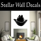 Western Cowboy Hat NS007 Vinyl Decal Wall Art Sticker Mural SWD