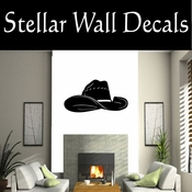 Western Cowboy Hat NS008 Vinyl Decal Wall Art Sticker Mural SWD