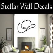 Western Cowboy Hat NS009 Vinyl Decal Wall Art Sticker Mural SWD