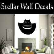 Western Cowboy Hat NS010 Vinyl Decal Wall Art Sticker Mural SWD