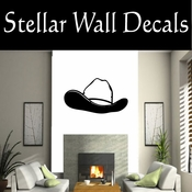 Western Cowboy Hat NS011 Vinyl Decal Wall Art Sticker Mural SWD