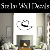 Western Cowboy Hat NS012 Vinyl Decal Wall Art Sticker Mural SWD
