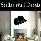 Western Cowboy Hat NS013 Vinyl Decal Wall Art Sticker Mural SWD
