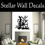 Wagon Wheel NS001 Vinyl Decal Wall Art Sticker Mural SWD