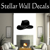 Western Cowboy Hat NS014 Vinyl Decal Wall Art Sticker Mural SWD