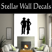 Western Cowboy NS004 Vinyl Decal Wall Art Sticker Mural SWD