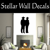 Western Cowboy NS006 Vinyl Decal Wall Art Sticker Mural SWD