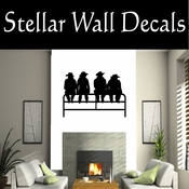 Western Cowboy NS007 Vinyl Decal Wall Art Sticker Mural SWD