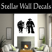 Western Cowboy NS009 Vinyl Decal Wall Art Sticker Mural SWD