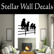 Western Cowboy NS010 Vinyl Decal Wall Art Sticker Mural SWD